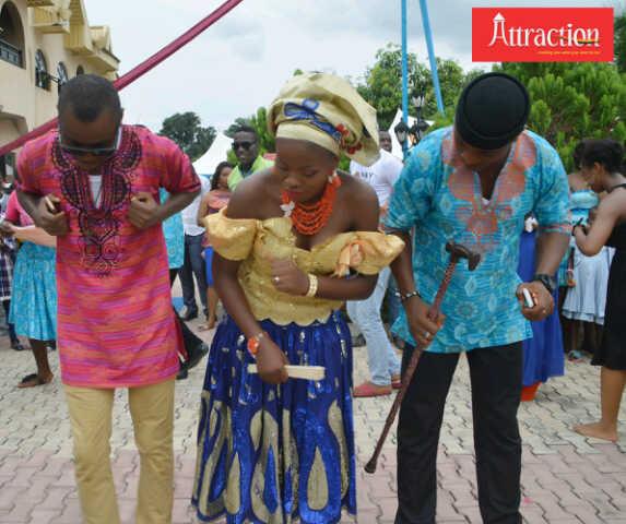 Choc Girl Dances Etighi with 2 Fetha Ex-Presidents (Cyril n Padre)