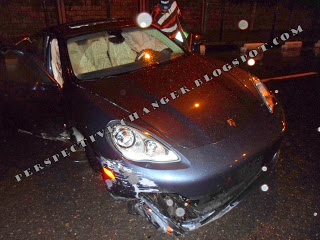 Wizkid involved in an accident with his new ride?